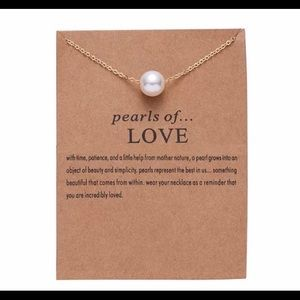 Pearls of love gold pearl wishing necklace NEW!